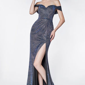 Off-Shoulder Prom Trumpet Long Dress